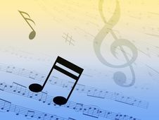 Free Music Background Royalty Free Stock Images - 14339449