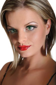 Beautiful Sexy Woman With Bright Make-up Stock Images