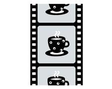 Coffee And Cinefilm Stock Images