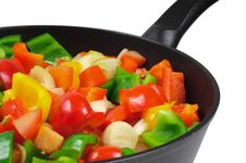 Roasting Pan With The Vegetables. Royalty Free Stock Image