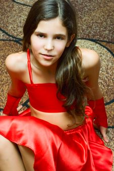 Free Portrait Teen Girl In Red Royalty Free Stock Photo - 14339805