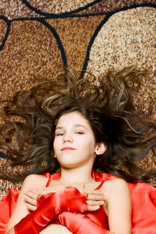 Free Portrait Teen Girl In Red Royalty Free Stock Photos - 14339818