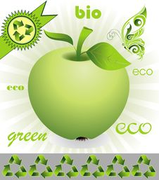 Free Ecology Background With Ecological Apple Stock Photo - 14339970