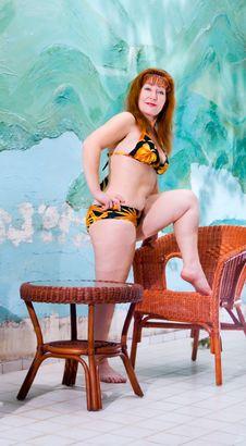 Free Portrait Pretty Woman In Bathing Suit Stock Image - 14339971