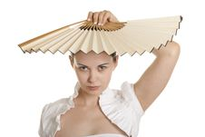 Free Young Woman With Fan Stock Photos - 14339973