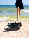 Free Shoes On Sand Stock Image - 14340231