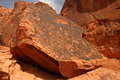 Free Petroglyphs Of Valley Of Fire Royalty Free Stock Image - 14345176