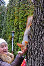 Free The Squirrel Has Dinner Stock Images - 14345664