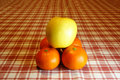 Free Pyramid Of Oranges And Apple Stock Photos - 14349213