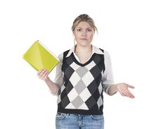 Free Girl With Shocked Expression Royalty Free Stock Photo - 14340035