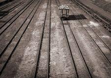 Free Single Car On Railroad Track Stock Photo - 14340130