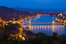 Free A View Of Budapest With The Chain Bridge Stock Photography - 14340132