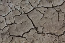 Arid Ground With Cracks Royalty Free Stock Photography