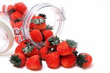 Free Marzipan Strawberries Stock Photo - 14340340
