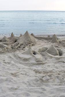 Sand Beach Stock Image