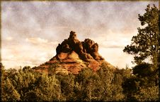 Free Vintage Sedona Arizona Royalty Free Stock Photography - 14342397