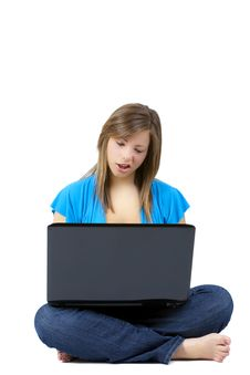 Free Girl With Laptop Royalty Free Stock Images - 14342759