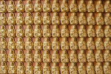 Free Ten Thousand Buddha On Chinese Temple Wall Stock Photos - 14343193