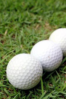 Free Golf Balls Royalty Free Stock Photo - 14344875