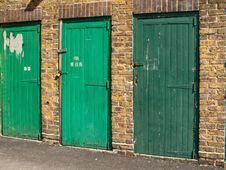 Free Green Doors Royalty Free Stock Image - 14345056