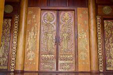 Thai Style Door Stock Image