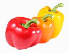 Free Three Bell Peppers Royalty Free Stock Images - 14345659
