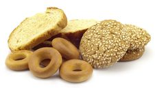 Free Dried Bagels And Carrots Stock Photos - 14345943