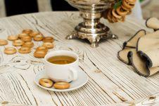 Free Russian Samovar And Tea Cup Stock Photo - 14346540