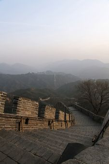 Free Great Wall Of China, With Cop Stock Images - 14346904