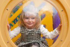Free Little Girl In Porthole Stock Image - 14346931
