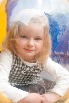 Girl In Porthole Royalty Free Stock Image