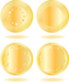 Free Golden Coins Set Stock Photos - 14347033
