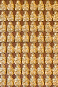 Free Ten Thousand Buddha On Chinese Temple Wall Royalty Free Stock Photography - 14347337