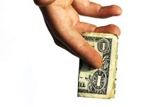 Free One Dollar Stretched In A Hand The Man Stock Photo - 14347530