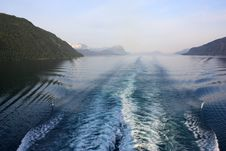 Cruising Fjords Of Norway Stock Image