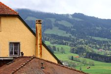 Old Tile Roof Stock Photography