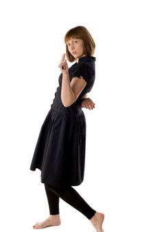 Free Woman Dancing In Studio Stock Photos - 14348333