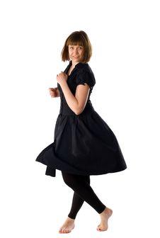 Free Woman Dancing In Studio Royalty Free Stock Images - 14348349