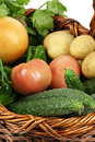Free Basket With Vegetables Royalty Free Stock Images - 14350099