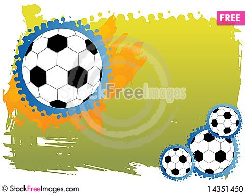 Abstract football background with space for text Cartoon Illustration