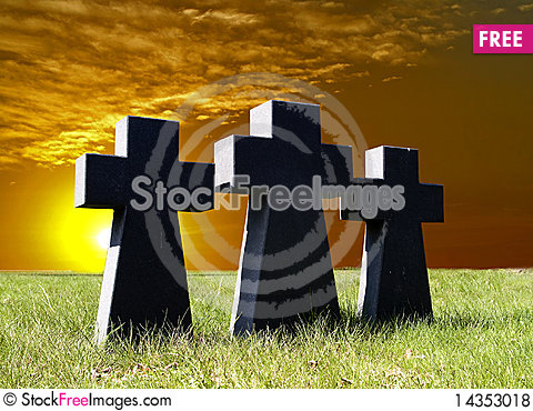 Three cross Stock Photo
