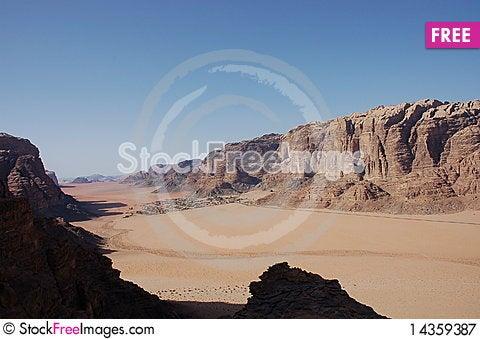 Bedouin village in Wadi Rum, Jordan. Stock Photo