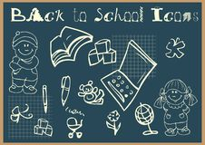 Back To School Icons Set Doodley Royalty Free Stock Photography