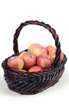 Free A Basket With Red Ripe Apples Stock Photo - 14350650