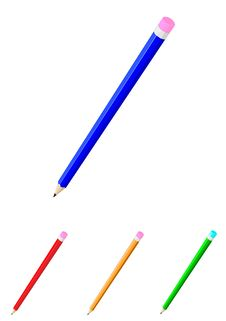 Free Color Pencils Royalty Free Stock Images - 14350909