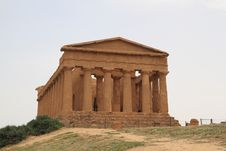 Free Temple Of Concord Agrigento Sicily Italy Royalty Free Stock Photos - 14351428