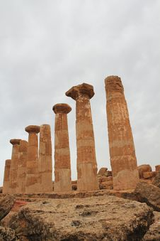 Free Temple Of Hercules Agrigento Sicily Italy Stock Image - 14351431