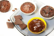 Free Chocolate Muffins Royalty Free Stock Images - 14351569