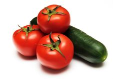 Free Tomatoes And Cucumber Royalty Free Stock Photography - 14351637