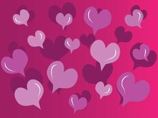 Free Abstract Hearts Royalty Free Stock Photography - 14352037